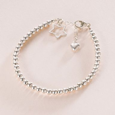 Sterling Silver Star Bracelet | Someone Remembered